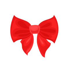 Big bright red bow hair accessory for girl decor vector