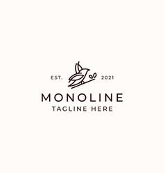 bird monoline concept logo template isolated vector image