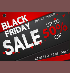 black friday sale banner abstract background vector image
