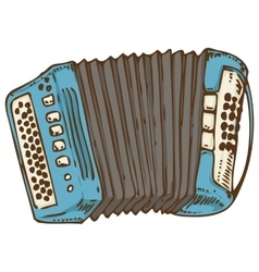 Blue Russian Bayan or Accordion vector