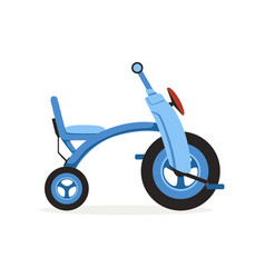 Blue tricycle for children kids bicycle vector