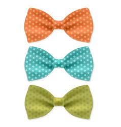 Bow tie set vector