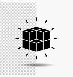 Box labyrinth puzzle solution cube glyph icon on vector