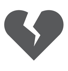 broken heart glyph icon valentine and vector image