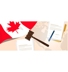 canada law constitution legal judgment justice vector image