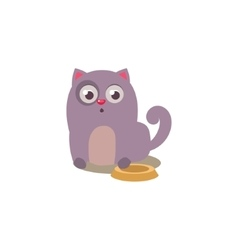 Cat with empty plate vector