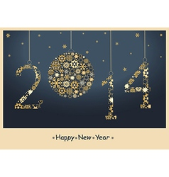 Christmas and new years design vector image