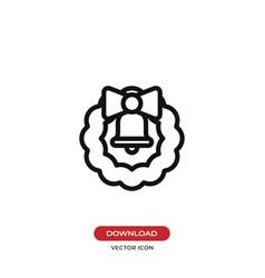 christmas wreath icon vector image