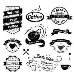 Coffee signs set vector image