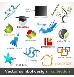 Color Symbol Design vector image