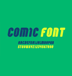 Comic rounded font condensed bold alphabet modern vector