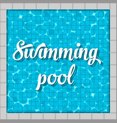 Creative of swimming pool top vector