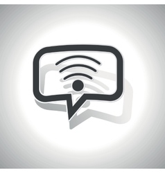 Curved Wi-Fi message icon vector