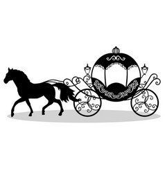 decorative brougham coach vector image