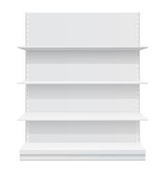 display rack shelves for supermarket vector image