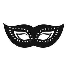 Elegant mask icon simple style vector