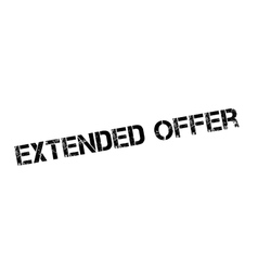 Extended Offer rubber stamp vector