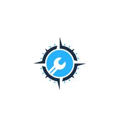 Fix compass logo icon design vector