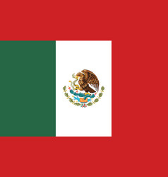 Flag of mexico in official rate and colors vector