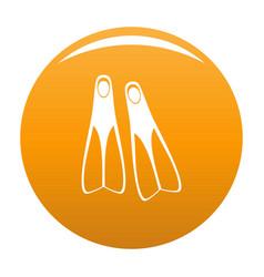 flippers icon orange vector image