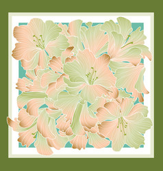 floral pattern decor for silk tiussiue delicate vector image