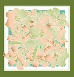 Floral pattern decor for silk tiussiue delicate vector