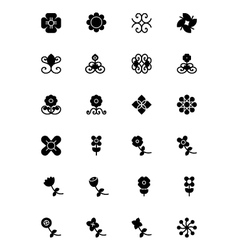 Flowers and Floral Icons 5 vector