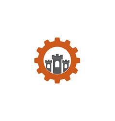 Gear castle logo vector