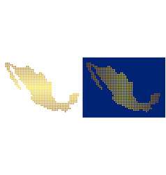 Gold abstract mexico map vector
