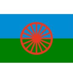 Gypsy flag - symbol nomads vector