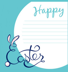 hand sketched happy easter text as logotype badge vector image