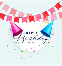 Happy birthday party celebration card design vector