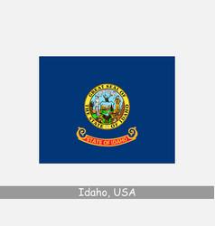 idaho usa state flag id usa vector image