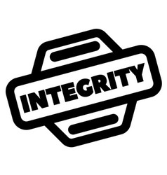 integrity black stamp vector image