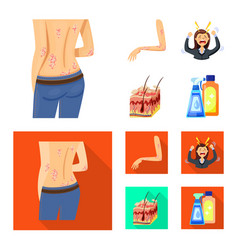 Isolated object medical and pain sign vector