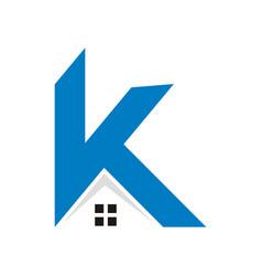k home letter logo vector image
