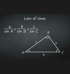 law sines on chalkboard template for your vector image