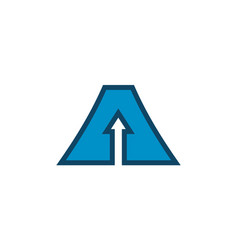 letter a up arrow logo icon concept design vector image