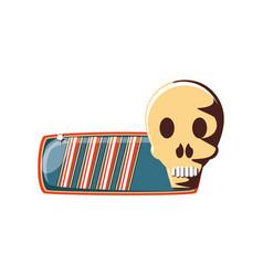 Life bar with skull vector