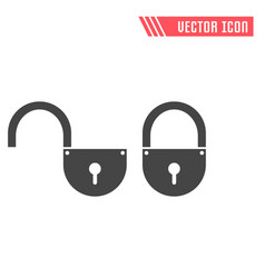 lock flat icon vector image