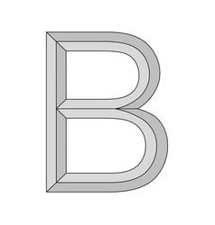 Logo three-dimensional letter b capital vector