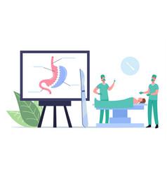 Medical operable weight loss procedure surgeon vector