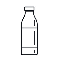 milk bottle in line style isolated vector image