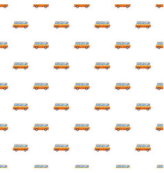 Mini bus pattern vector
