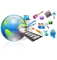 multimedia world vector image vector image