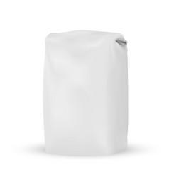 Packaging blank white gray packaging bag for bulk vector