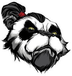 Panda master on white vector