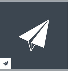paper airplane related glyph icon vector image