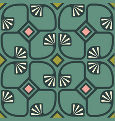 pattern in art deco style vector image