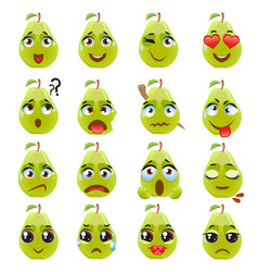 Pear emoji emoticon expression vector